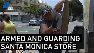 Liquor Store Owner Is Armed And Ready To Guard His Santa Monica Block | NBCLA