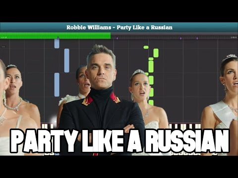 Party Like a Russian Piano Tutorial (Robbie Williams) - Free Sheet Music