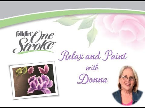 FolkArt One Stroke: Relax and Paint With Donna Ep9 - Slender, Pointed Strokes | Donna Dewberry 2019