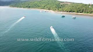 Bay of Bengal and Andaman Sea waters off Andaman Islands: aerial view