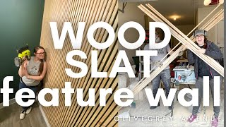Build An Easy Wood Slat Feature Wall For Cheap! | One Room Challenge | Week 5/6