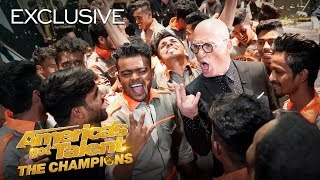 V.Unbeatable Reacts To Their Second Golden Buzzer Moment! - America's Got Talent: The Champions