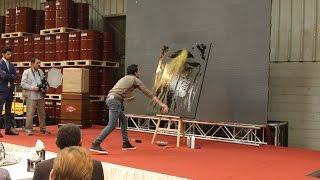 Portrait glitter painting by ossama nasr رسم بورتريه مباشر الرسام أسامة نصر