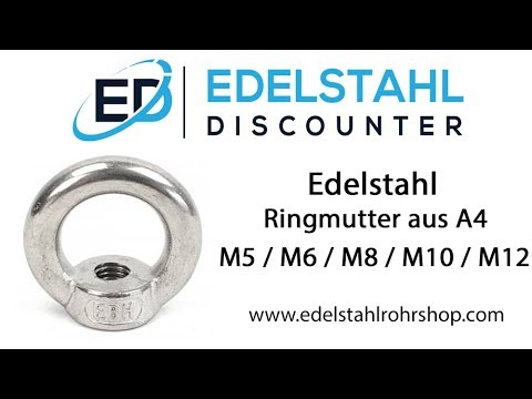 Edelstahl Ringmutter M5 / M6 / M8 / M10 / M12 - A4
