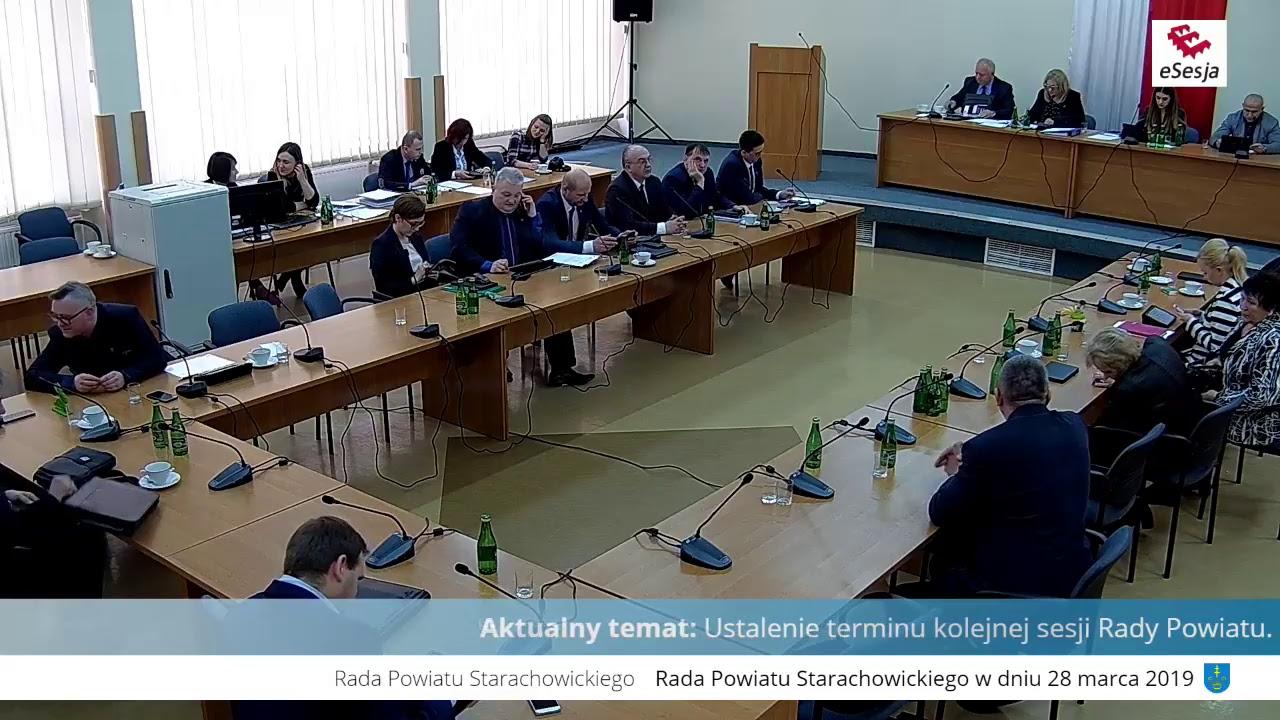 VII Sesja Rady Powiatu w Starachowicach 28.03.2019r.
