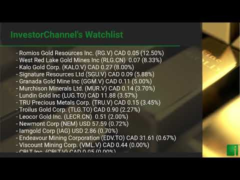 InvestorChannel's Gold Watchlist Update for Friday, Octobe ... Thumbnail
