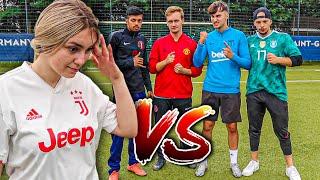 Meine Freundin vs DGang Fußball Challenge !