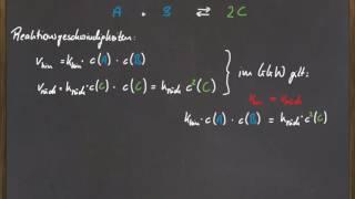 q 12 das massenwirkungsgesetz - Massenwirkungsgesetz Beispiel