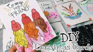 DIY Super Pretty CHRISTMAS CARDS! 🎄🦌 // #DEBBYMAS2018