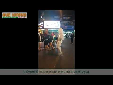 Những trò lố lăng, phản cảm ở khu phố đi bộ TP Đà Lạt