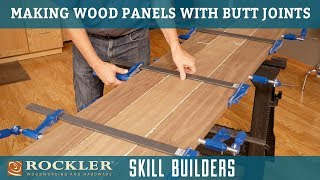 Gluing Up Wood Panels with Butt Joints and Biscuits | Rockler Skill Builder