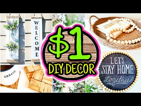 Cheap (NOT CHEESY) $1 DIY Room Decor Ideas