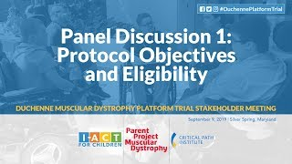 DPT Meeting: Panel 1 – Protocol Objectives & Eligibility