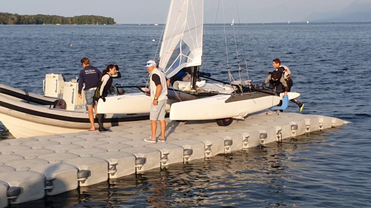 SN Nyon - Championnat Suisse de Nacra 15 Sortie d'eau