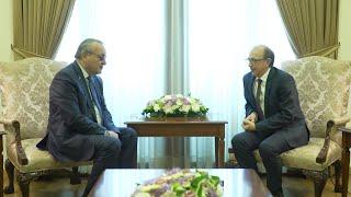 ԱԳ նախարար Արա Այվազյանի հանդիպումը Արցախի ԱԺ նախագահ Արթուր Թովմասյանի հետ