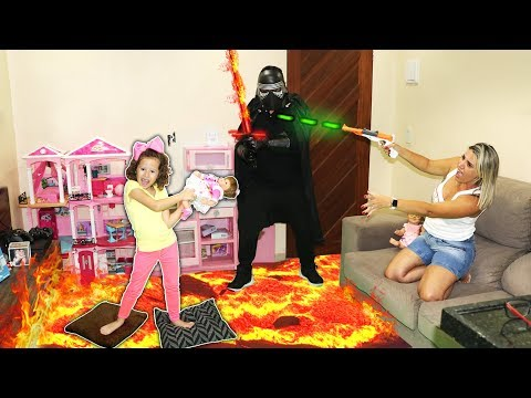O CHÃO É LAVA SALVA A BEBÊ REBORN COM NERF WAR (THE FLOOR IS LAVA)