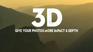 6 QUICK TRICKS to give YOUR PHOTOS IMPACT (and 3D look)