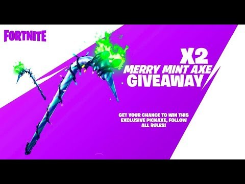 Live Fortnite GIFTING MINTY AXE CODES!!!