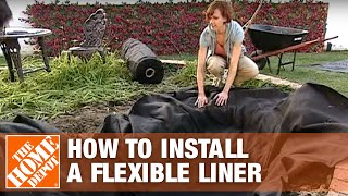 How To Install A Flexible Liner | The Home Depot
