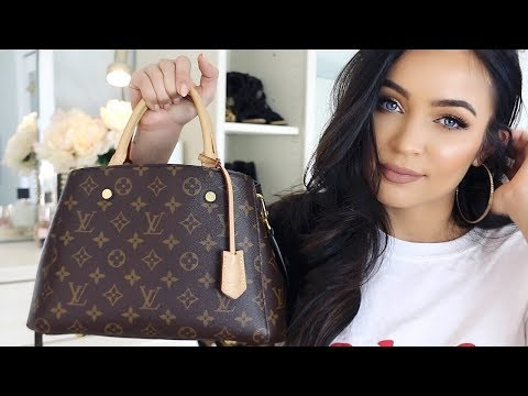 WHATS IN MY BAG? LOUIS VUITTON MONTAIGNE | Stephanie Ledda