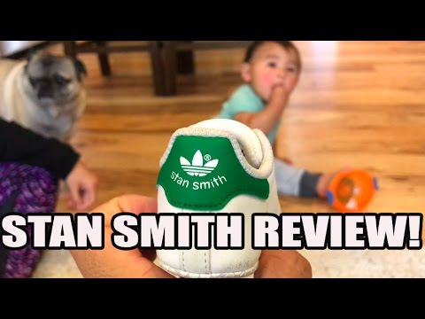 Our Favorite Sneaker So Far! Adidas Stan Smith Infant Crib Shoe Review!