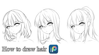 [Tutorial] How To Draw Hair With IbisPaint X