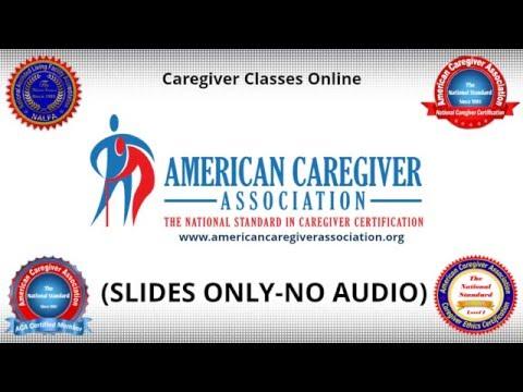 Caregiver Classes Online