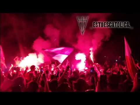 """""""Banderazo Los Cruzados 2018"""" Barra: Los Cruzados • Club: Universidad Católica"""