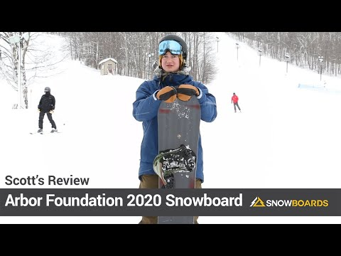 Video: Arbor Foundation Snowboard 2020 18 30