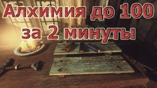 Skyrim- КАК ПРОКАЧАТЬ АЛХИМИЮ НА 100 ЗА 2 МИНУТЫ