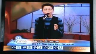 Jordan McIntosh 2011 Kiwanis Idol Winner