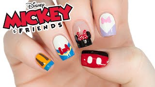 Disneys Mickey Mouse And Friends Nail Art Design!