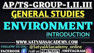 ENVIRONMENT INTRODUCTION-AP/TS-GROUP-I,II,III