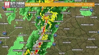 No severe thunderstorms or tornado warnings, but the storms pack a punch