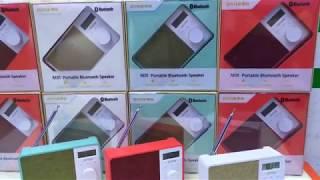 Jonter M35 Bluetooth FM Radio Portable Speaker HD Volume LCD Screen TF Card AUX