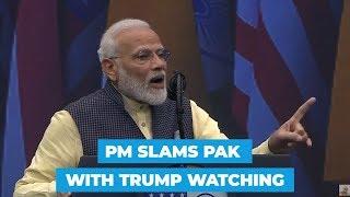 Howdy Modi: PM hails 370 revocation; slams Pak terror with Trump in audience
