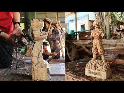 神人木雕刻出《七龍珠》的孫悟空!