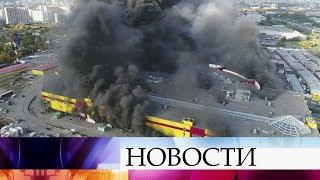 ВПодмосковье наместе пожара вТЦ «Синдика» удалось ликвидировать открытый огонь.