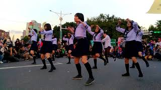 反勞基惡法遊行-制服學生妹舞蹈表演-171223