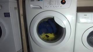 Review and demonstration : Zanussi Lindo 300 ZWF81463W 8kg 1400 spin washing machine