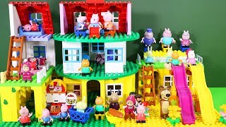 Peppa Pig Legos House Construction Sets - Lego Duplo House With Water Slide Toys For Kids #8