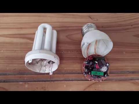 Nuevo vídeo Reparación lampara ahorradora fácil y rápido, con método sencillo!