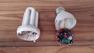 Reparación lampara ahorradora fácil y rápido, resumen!