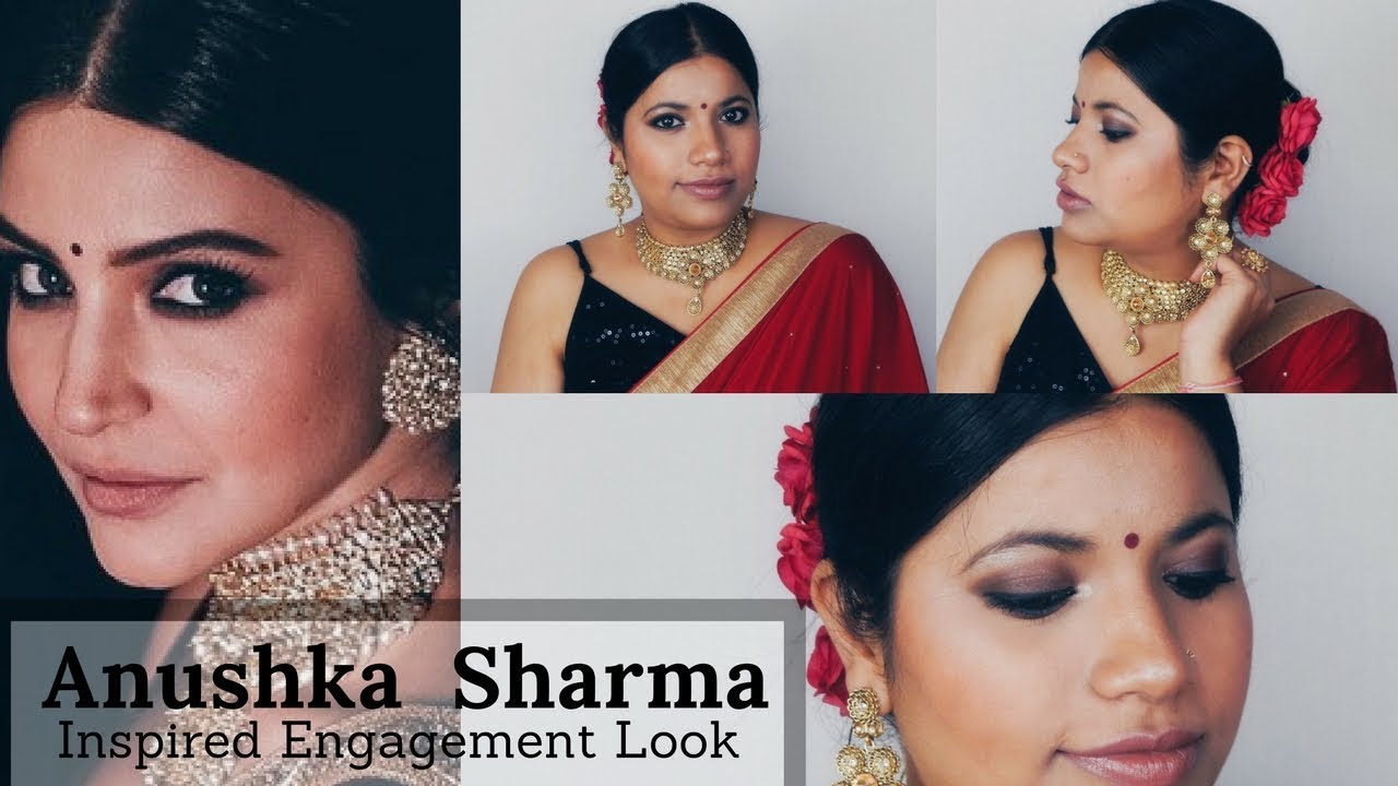 Anushka Sharma Engagement Look Inspired Celebrity Makeup Tutorial Episode 10
