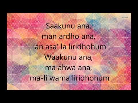 Kun anta Lirik Rumi Lagu kegemaran Icha