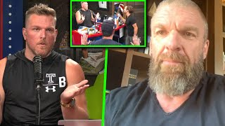 HHH Comes On The Pat McAfee Show To Talk Adam Cole's Blow Up Live On Air