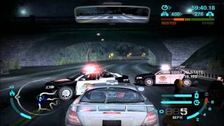 NFS Carbon - All 10 heat levels in free roam (part 3/3)