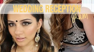 GRWM | Wedding Reception Party Makeup + Hair Tutorial | Kaushal Beauty