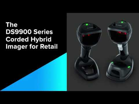 Zebra DS9900 Series Corded Hybrid Imager - Retail 1D and 2D Barcode Scanning video thumbnail
