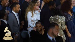"Kanye West ""crashing"" Beck's Album Of The Year Acceptance Speech   GRAMMYs"